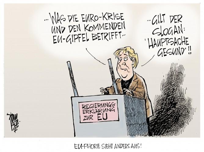 Regierungserklärung zum EU- Gipfel