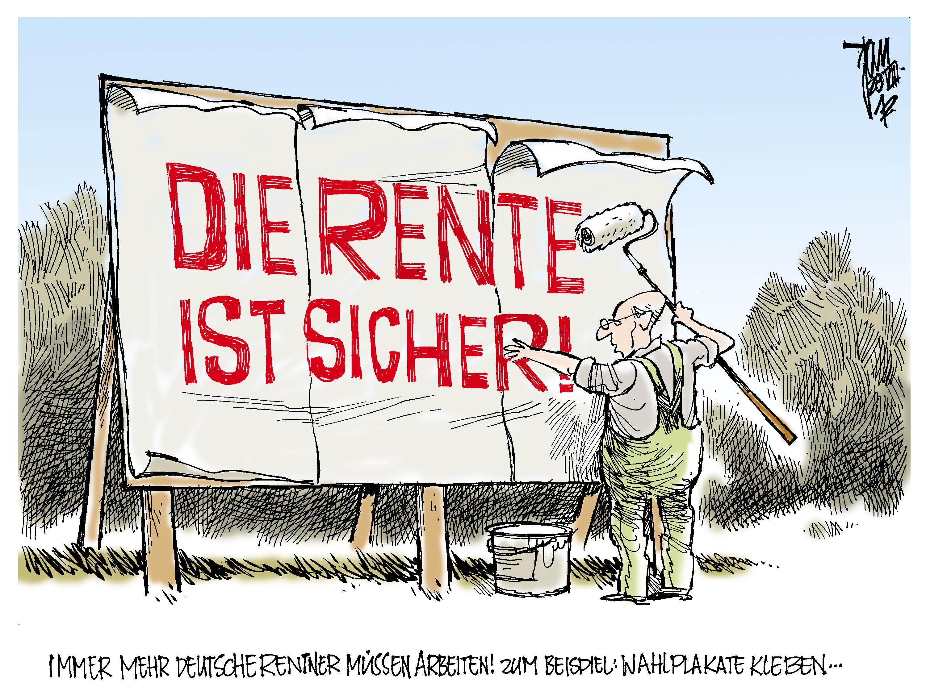 Rentner Karikatur