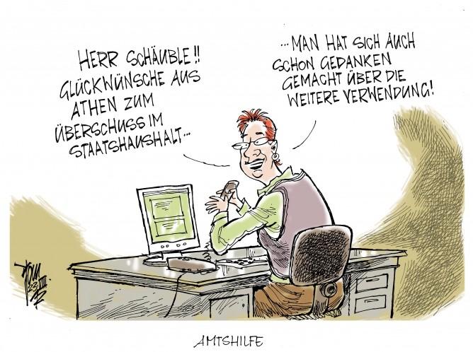 Überschuss im Staatshaushalt, Schäuble , Griechenland, Euro-Krise