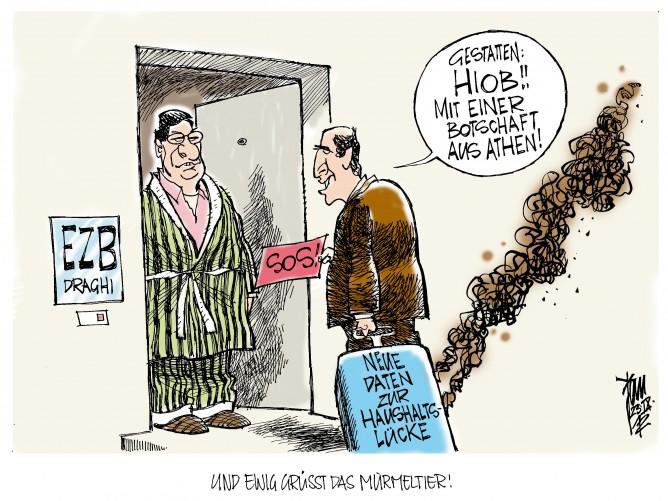 Euro-Krise: Noch größeres Hauhaltsloch in Griechenland als angenommen