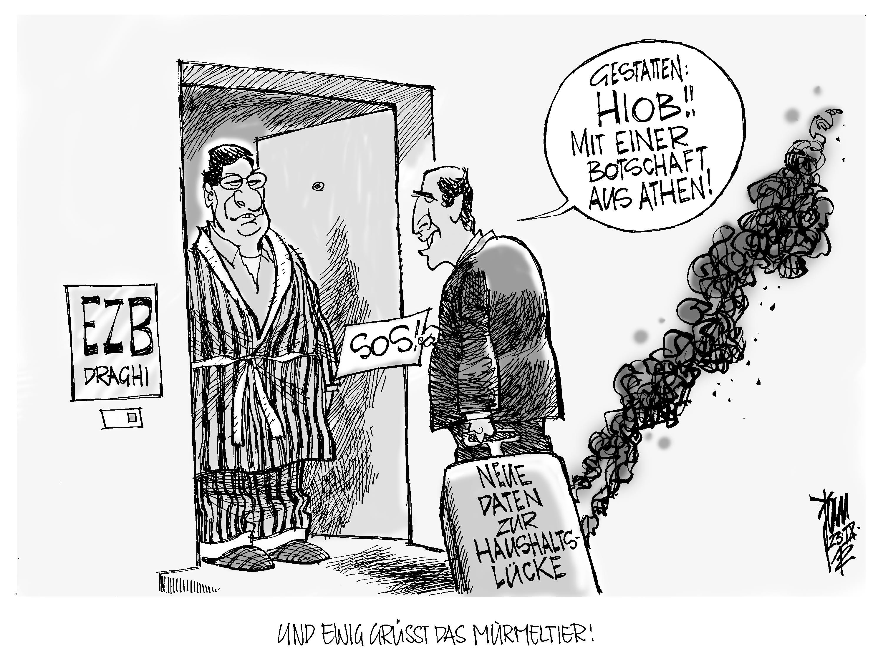 Aktuelle Karikaturen: Euro-Krise