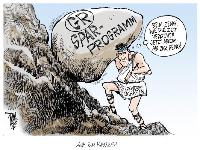 Euro-Krise: Proteste gegen Sparprogramm in Griechenland