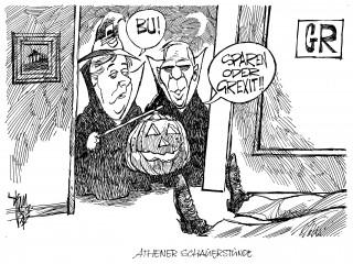 Euro- Halloween: Sparen oder Grexit