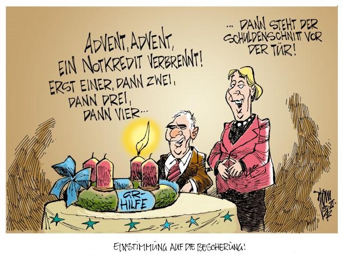 Griechenland-Paket: Griechenland-Hilfe belastet den Bundeshaushalt 2013 mit 730 Mio. Euro