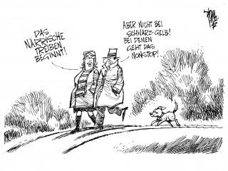 Närrisches Treiben: bei Schwarz-Gelb ganzjährig