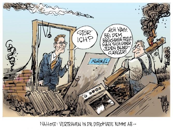 Westerwelle in Israel: Nahost - Das Vertrauen in die Diplomatie nimmt ab