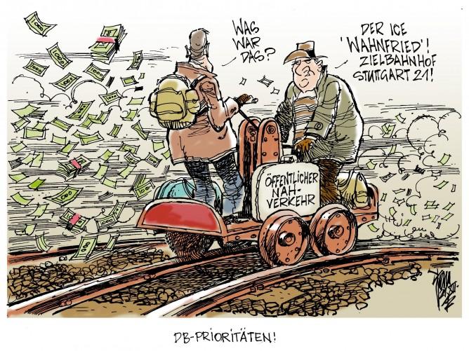 DB-Prioritäten: Regionale Bahnprojekte auf dem Abstellgleis. Freie Fahrt für ICE und Stuttgart 21