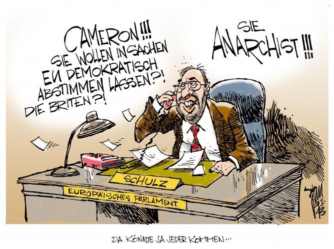 EU-Zoff: Da will tatsächlich jemand demokratisch abstimmen lassen..