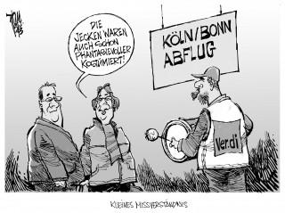 Streiks an Flughäfen: Ver.di schließt unbefristete Streiks nicht aus