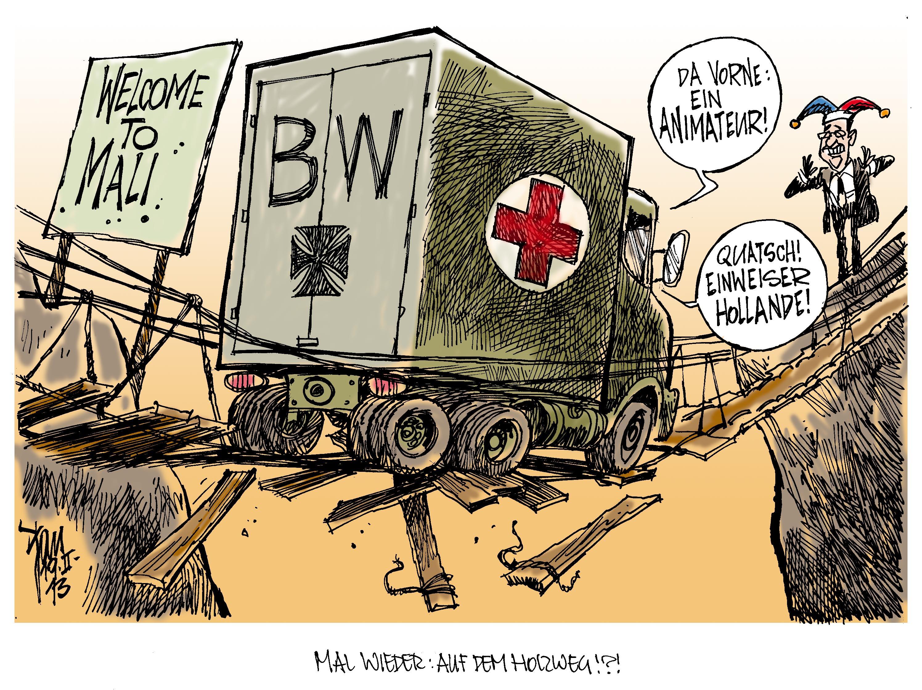 Aktuelle Karikaturen: Bundeswehr-Einsatz in Mali | {Sanitäter bundeswehr 63}