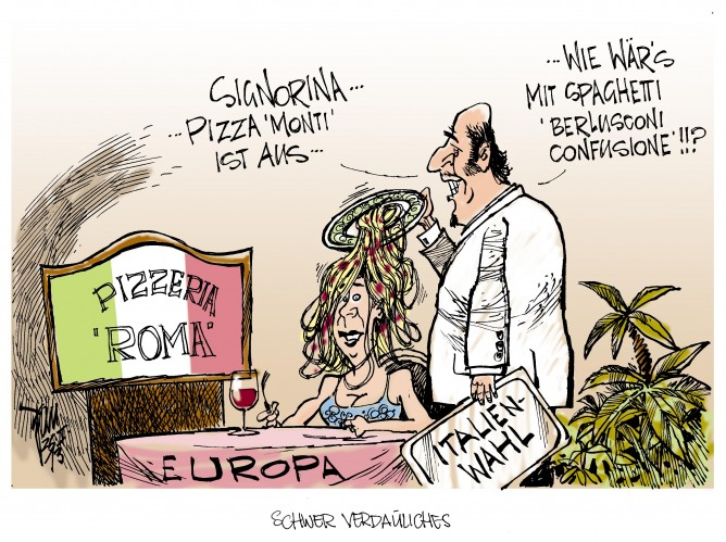 Italien-Wahl: Berlusconi sorgt für Unruhe
