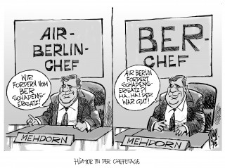 BER- Neubesetzung: Hartmut Mehdorn, ehemals bei Air Berlin, wird Chef des Berliner Flughafens