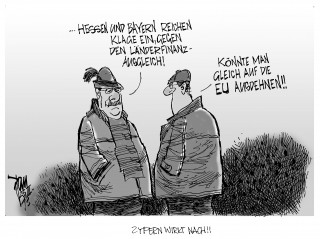 Länderfinanzausgleich: Hessen und Bayern reichen Klage ein, halten die Regelung für ungerecht und leistungsfeindlich.
