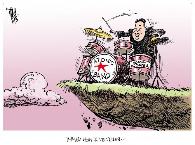 Nordkorea droht: Kim droht den USA mit atomaren Erstschlag