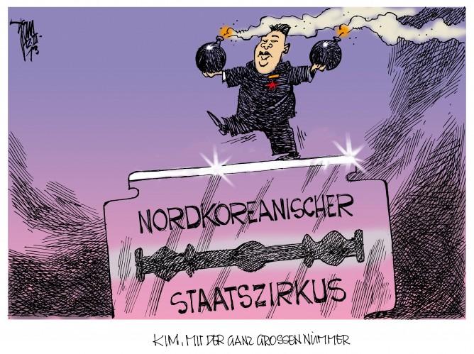 Nordkorea: Kim Jong Un will südkoreanische Insel brennen sehen.