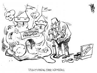 Neue italienische Regierung: Letta wird italienischer Ministerpräsident.Berlusconi erst einmal im Hintergrund.