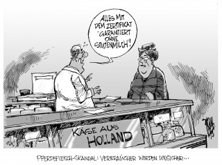 Neuer Pferdefleisch-Skandal: 50 000 Tonnen Fleisch müssen in ganz Europa aufgespürt werden. Ein holländischer Großhändler steht unter Verdacht.