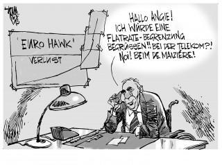 """"""" Euro Hawk """" : Verteidigungsminister de Maiziére im Millionenloch. Das Rüstungsprojekt """" Drohne """" läuft aus dem Ruder."""