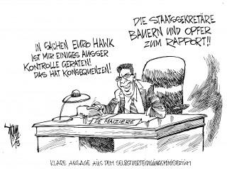 """"""" Euro-Hawk """"- Affäre: De Maiziére macht andere für die Pannen verantwortlich. Bauernopfer."""