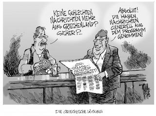 Griechenland schaltet Staatssender ab: Die griechische Regierung hat den Staatssender ERT abgeschaltet. Grund: faule Fundamente. Darauf hin haben die Medien im Lande ebenfalls die Nachrichten aus dem Programm genommen.