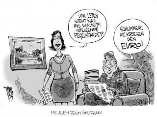 Lettland bekommt den Euro: Lettland wird als 18. Mitglied in der Euro-Zone aufgenommen.