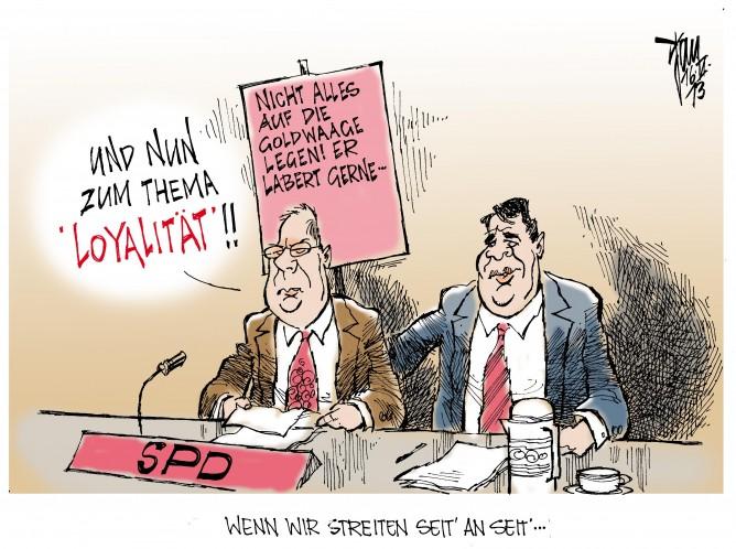 Zoff in der SPD: Steinbrück wirft Gabriel mangelnde Loyalität vor.