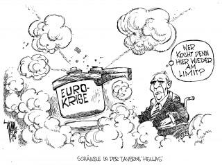 Euro-Krise: Mehr als 200 Milliarden wurden für die schwächsten Länder gezahlt- es reicht leider nicht. Zypern und Griechenland, auch Portugal werden mehr brauchen.