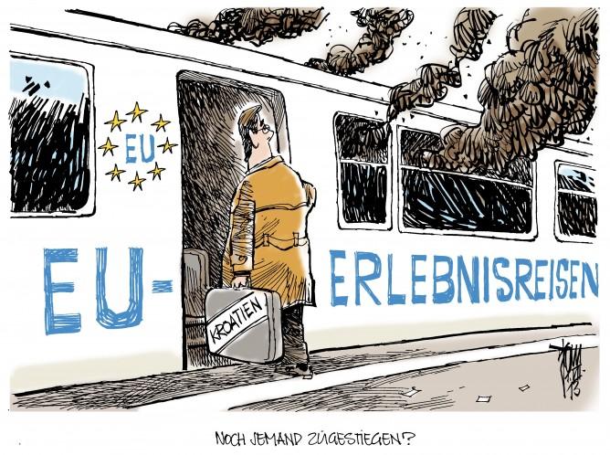 Kroatien in der EU: Das neue EU-Mitglied heißt Kroatien und hat auch schon jede Menge Probleme im Gepäck: hohes Defizit, Korruption, Chaos in den Verwaltungsebenen....
