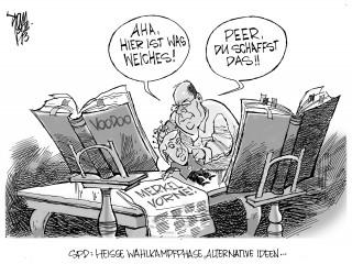 SPD- Wahlkampf: Die NSA-Affäre hat Schwarz-Gelb und Angela Merkel nicht großartig geschadet. Peer Steinbrück sucht nach alternativen Möglichkeiten um eventuell doch noch ein wenig an Boden zu gewinnen...