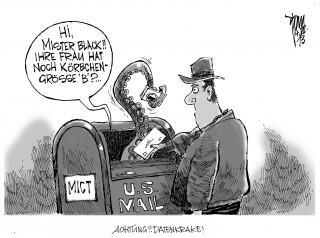"""USA registrieren nationalen Briefverkehr: Mit dem Überwachungsprogramm """" MICT """" fotografieren die USA die Postsendungen."""