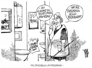 """Innenminister Friedrich und die NSA- Affäre: Friedrich findet im Kampf gegen den Terror die US-Überwachungspraxis """" edel """".Die Opposition ist anderer Meinung."""