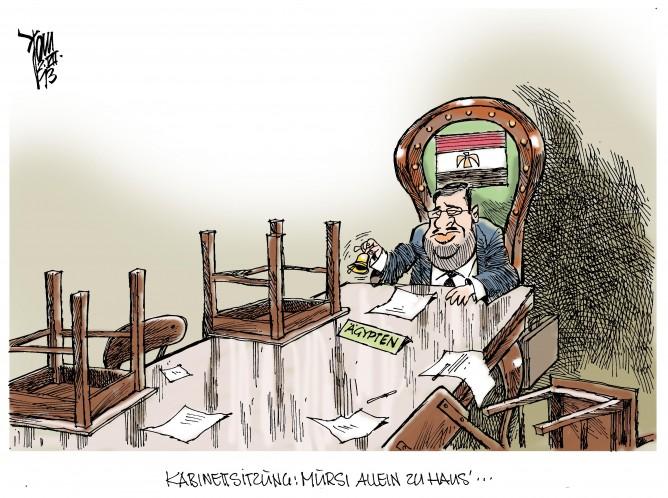 Unruhen in Ägypten: Kabinett Mursi- eine Reihe von Ministern ist bereits zurückgetreten. Mursi weist das Ultimatum der Armee zurück.