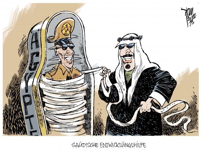 Saudi- Arabien zahlt Entwicklungshilfe für Ägypten: Die westlichen Staaten wollen keine Entwicklungshilfe mehr zahlen. Den Ausfall der Zahlungen will Saudi-Arabien ersetzen