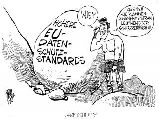 EU- Datenschutzstandards: Justizministerin Leutheusser-Schnarrenberger will wegen der Spähaffäre die EU-Datenschutzstandards erhöhen.