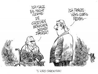 Euro-Krise: Griechenland braucht wieder Geld: Laut Finanzminister Schäuble braucht Griechenland ein drittes Hilfsprogramm