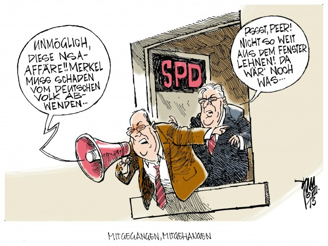 NSA-Affäre: Linke fordert von SPD und Steinmeier Offenbarungseid in Sachen Spähaffäre. Steinmeier habe angeblich die Grundsatzentscheidung pro NSA getroffen.