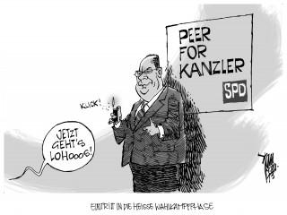 Wahlkampf : Die SPD mit Peer Steinbrück beginnt die heiße Wahlkampfphase