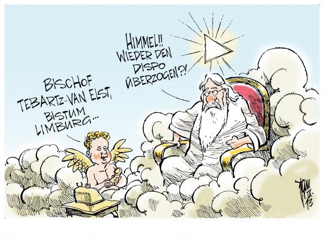 Bischof Tebartz- van Elst: Der neue Bischofssitz im Bistum Limburg schlägt mit 15 Millionen Euro zu Buche.Dreimal soviel wie ursprünglich geplant.Man gönnt sich ja sonst nichts...