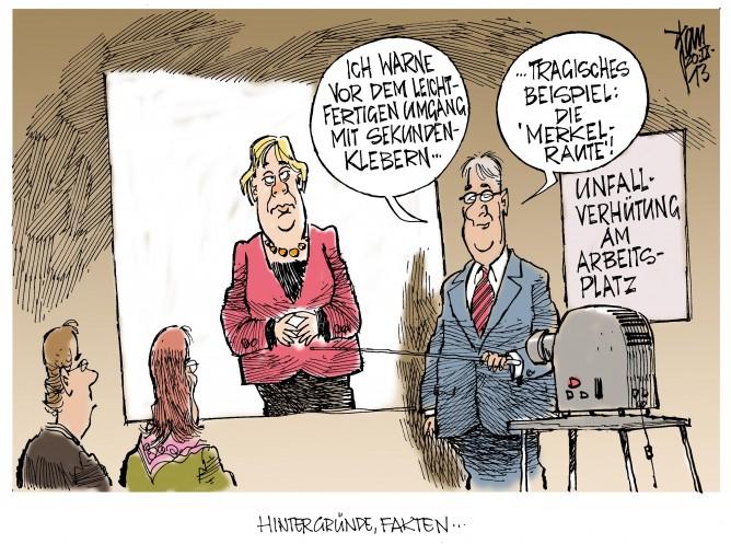 Die Merkel-Raute: Körpersprache in der Politik oder war Sekundenkleber der Verursacher?
