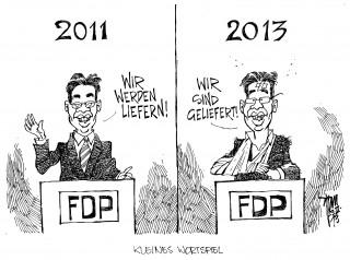 FDP-Wahldesaster: Nach der Pleite bei den Bundestagswahlen 2013 kündigt Rösler seinen Rücktritt an.