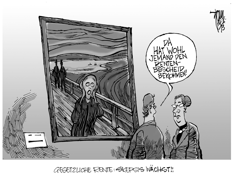 Rentenversicherung Karikatur