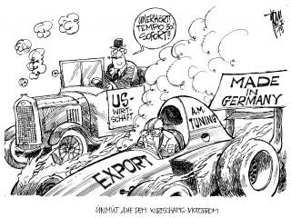 Exportüberschuss: Laut  US-Regierung gefährden die deutschen Exportüberschüsse die Stabilität der globalen Wirtschaft.