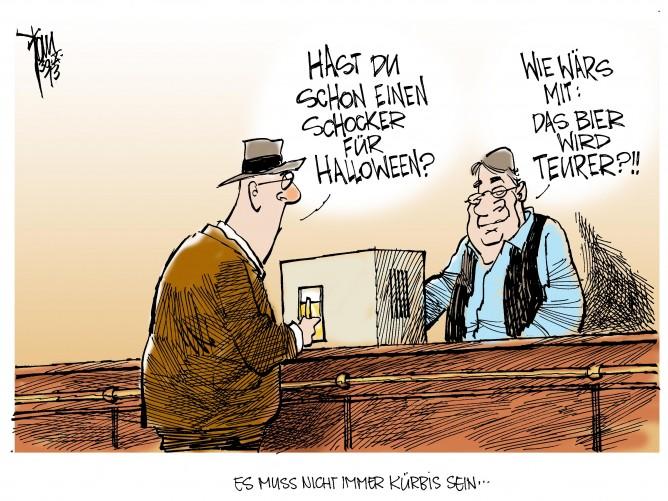 Halloween: Pünktlich zu Halloween werden steigende Bierpreise angekündigt