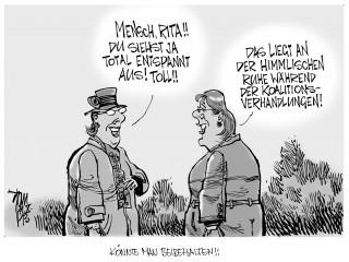 Koalitionsverhandlungen: Es zieht sich...