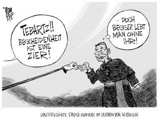 Limburger Bischof Tebartz-van Elst: Treffen mit Papst Franziskus in Sachen Verschwendung - im Zeichen von Wilhelm Busch