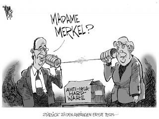 NSA- Affäre: Die US-Überwachung überschattet den EU-Gipfel.Merkel und Hollande wollen gemeinsam gegen die Überwachung vorgehen.