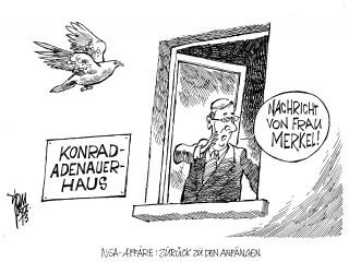 NSA-Affäre: Wegen der Abhöraffäre kommt der Bundestag zu einer Sondersitzung zusammen. Merkels Handy wurde abgehört.