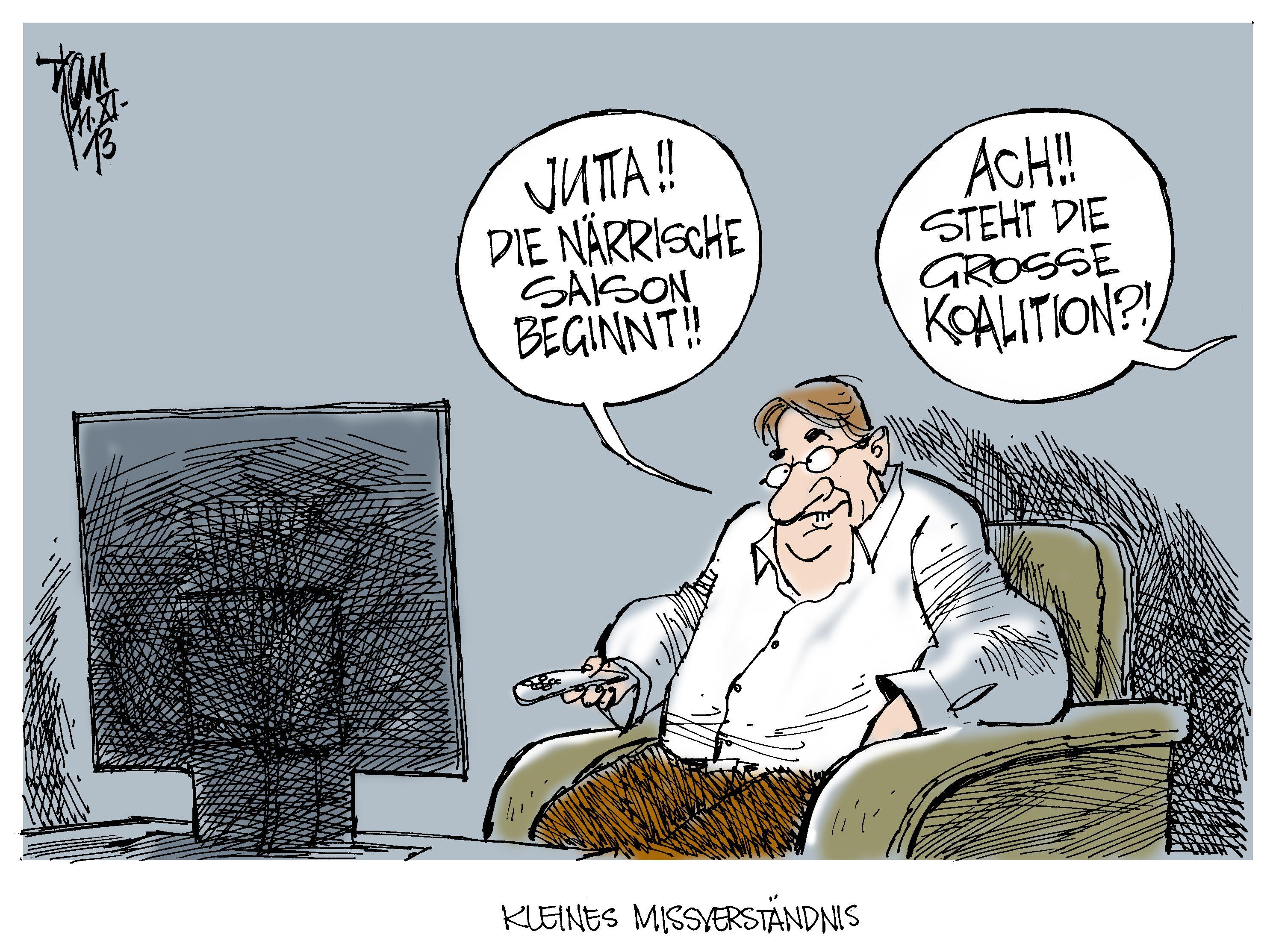 Aktuelle Karikaturen Beginn Der Narrischen Saison