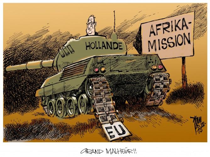 Hollandes Afrika-Mission: Hollande sucht Mitstreiter für das Afrika-Korps. Die EU verweigert die Finanzierung des Abenteuers.