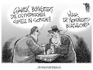 Gauck boykottiert die Olympischen Spiele in Sotschi : Bundespräsident Gauck übt Kritik an Russland wegen Menschenrechtsverletzungen
